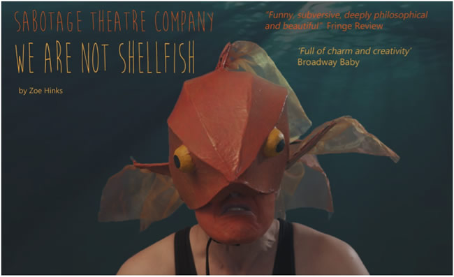 we are not shellfish sabotage theatre at carn marth amphitheatre