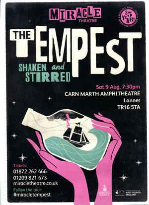miracle theatre - the tempest 9th August 2014, carn marth amphitheatre